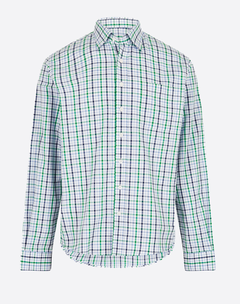 Dubarry Mens Woven Shirt Rathdrum Kelly Green | Country Ways