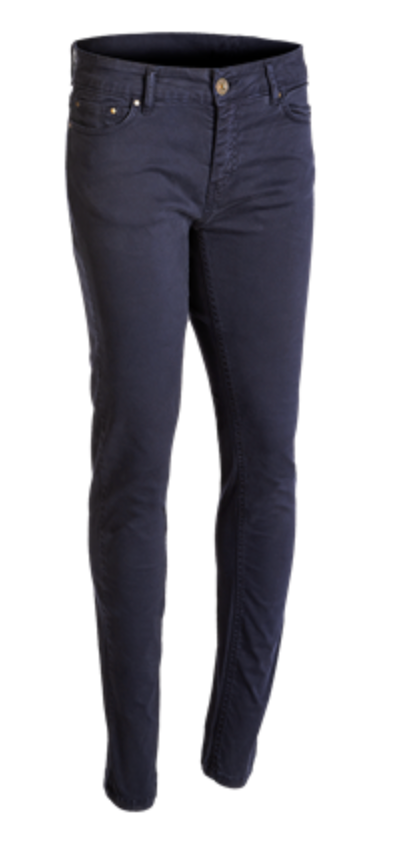 Baleno Women's Versailles Cotton Trousers Navy Blue | Country Ways