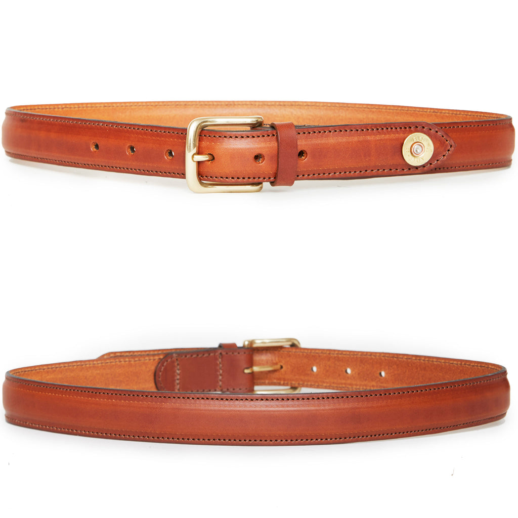 Hicks & Hides Stow Field Belt Tip Cognac | Country Ways