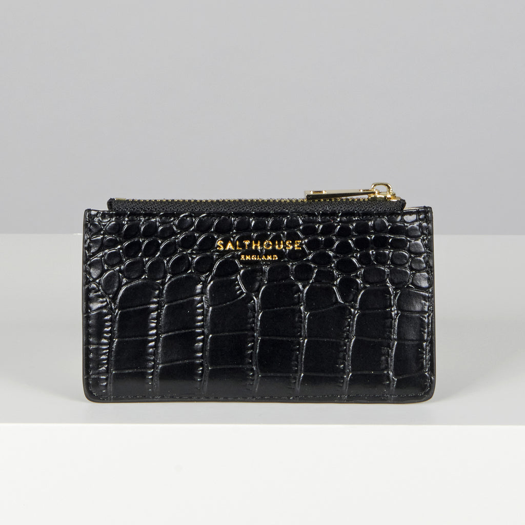 Salthouse Serafina Croc Embossed Leather Clutch Bag | Country Ways