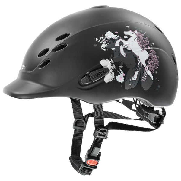 Uvex Onyxx Kids Riding Helmet Little Pony Black