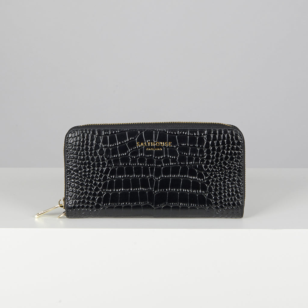 Salthouse Valentina Croc Embossed Leather Wallet | Country Ways