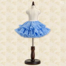 Load image into Gallery viewer, Pompon Skirt / Mini (Blue)