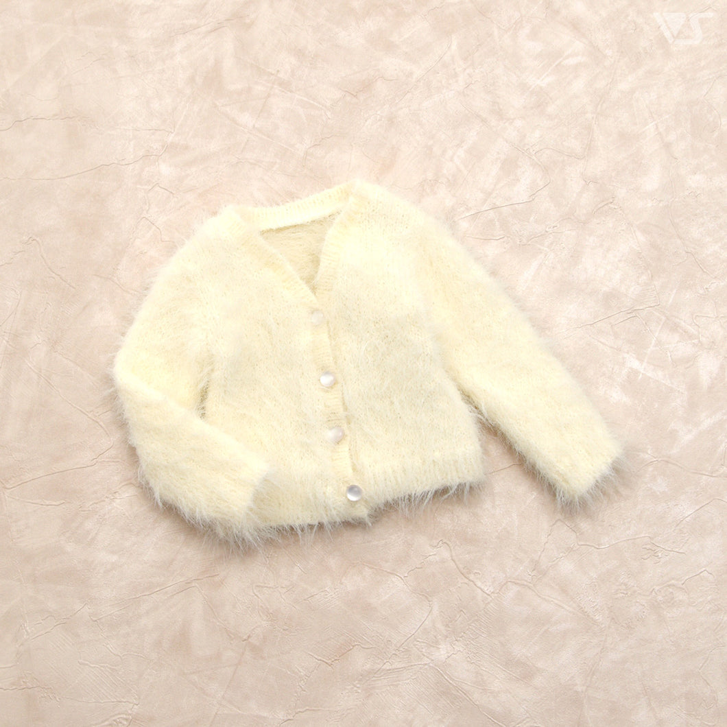 Fluffy Cardigan (White)