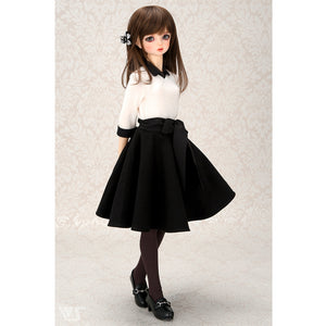Monotone Flared Skirt Set