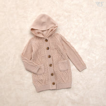 Load image into Gallery viewer, Hooded Long Cardigan (Dull Pink)