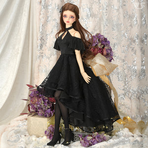 SD16 Long Back Dress (Black)[PREORDER]