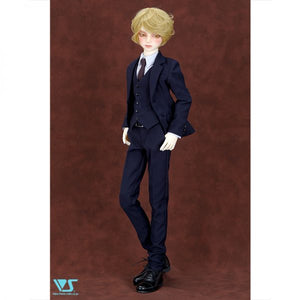 British Style Suit (Navy Blue)