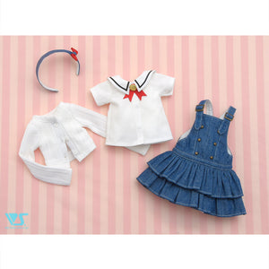 Lovely Denim Frill Set Mini