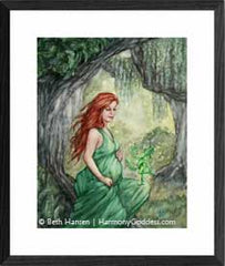 Earth Mother watercolor painting by Beth Hansen