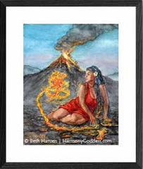 Fire Mother watercolor painting by Beth Hansen