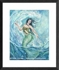 Water Mother watercolor painting