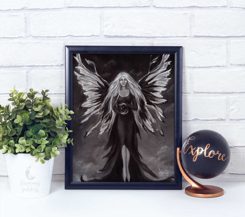 Gothic Fairy Angel Art Print