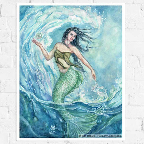 Water Mother Goddess Art Print
