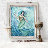 Water Mother Goddess Altar Print