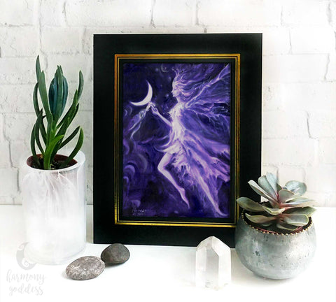 Purple Crescent Moon Fairy