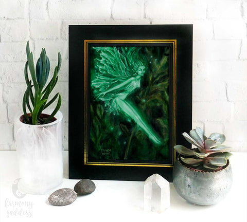 Faerie Of The Green Altar Print
