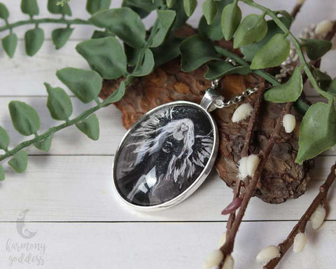 Silver Faerie of Insight Necklace – handmade reiki pendant
