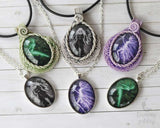 Celtic Knotwork Faerie of Moonlight hand crafted necklace