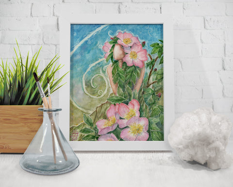Prairie Rose Goddess Art Print