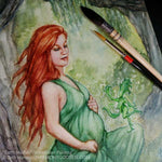 Earth Mother Original Watercolor Painting