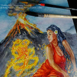 Fire Mother Water Color Painting