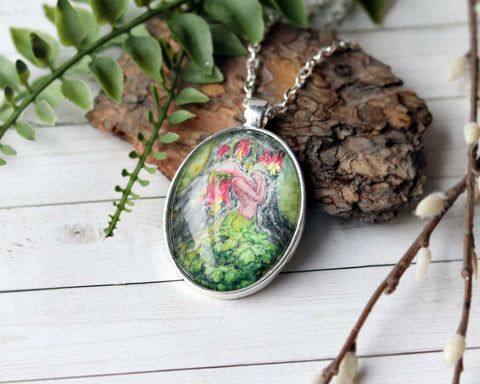 Wild Columbine Goddess Necklace
