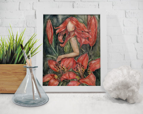 Wood Lily Goddess Art Print