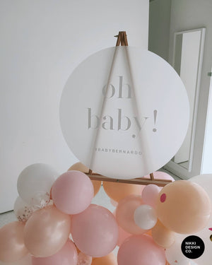 Baby Shower Sign - Round Frosted Acrylic