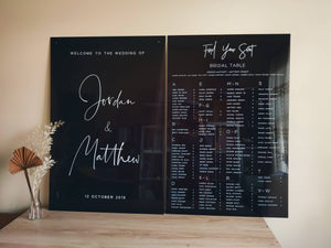 Transparent Black Acrylic Welcome Sign