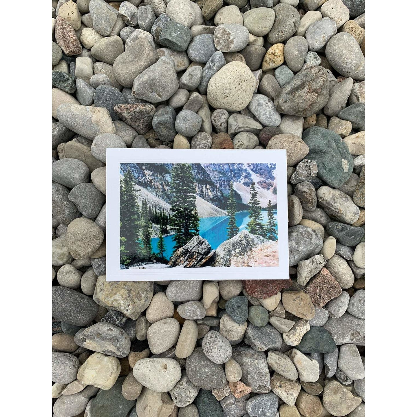 Beautiful Lookout at the Unforgettable Moraine Lake, Alberta, Note Card, Blank Inside