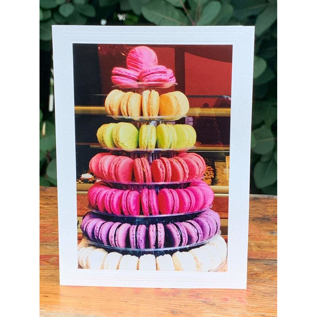 Macaron Tower, Note Card, Blank Inside