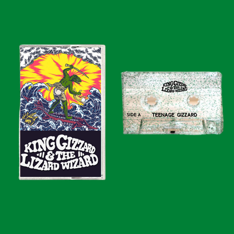Teenage Gizzard Green Glitter Cassette (Bootleg By Blacktop Records)