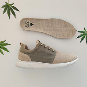 Scarpe in Canapa 8000Kicks Beige 100%hemp