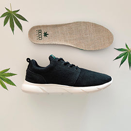 Scarpe in Canapa 8000Kicks Black 100%hemp