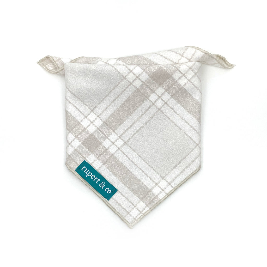 White Snow Flannel Bandana