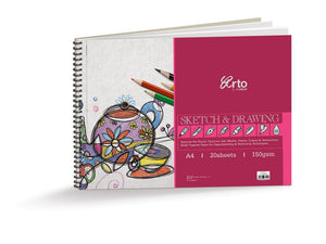 'Arto' spiral drawing paper pad - The Present Factory