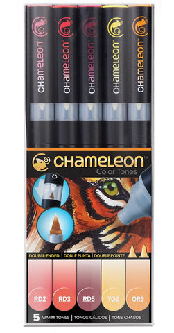 'Chameleon' set of 5 changing colour pens (warm tone) - The Present Factory