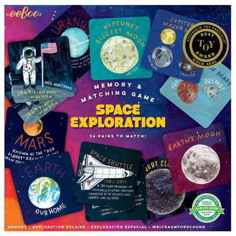 'eBoo' memory match game - space exploration - The Present Factory