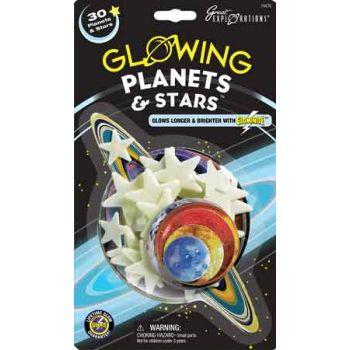 Glow in the dark sticky planets and stars - The Present Factory