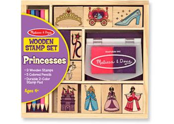 Melissa & Doug Wooden Princess Stamp Set - The Present Factory