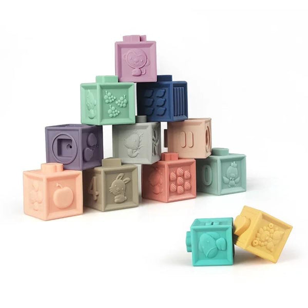 Set of 12 soft building blocks - The Present Factory