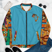 "Load image into Gallery viewer, Aban (""Fortress"") Unisex Bomber Jacket"
