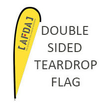 Tear Drop Flag - Double Sided