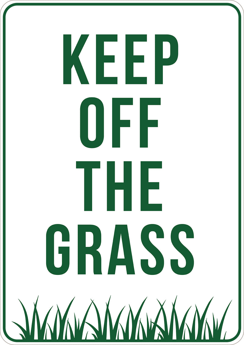 Keep Off Grass Printed Sign