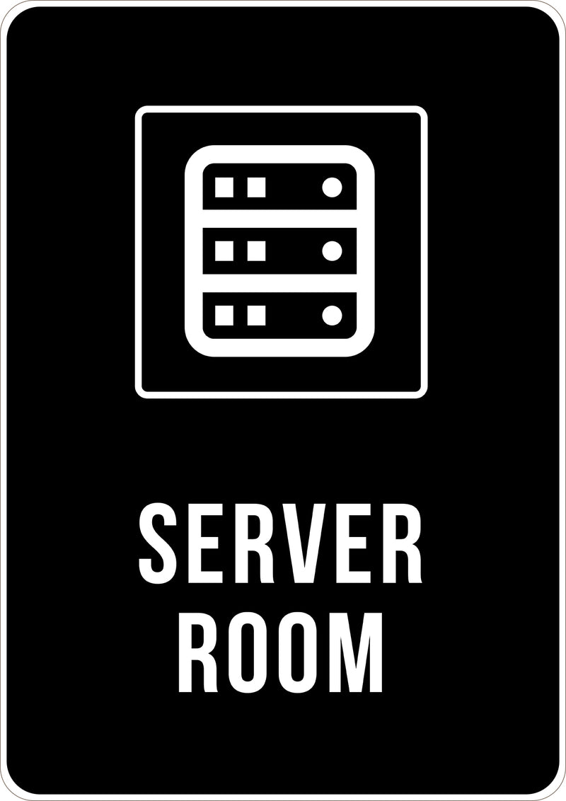 Server Room Printed Sign