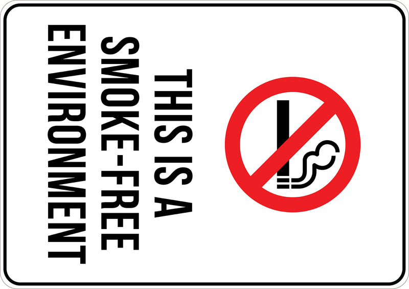 This Is A Smoke Free Environment Printed Sign
