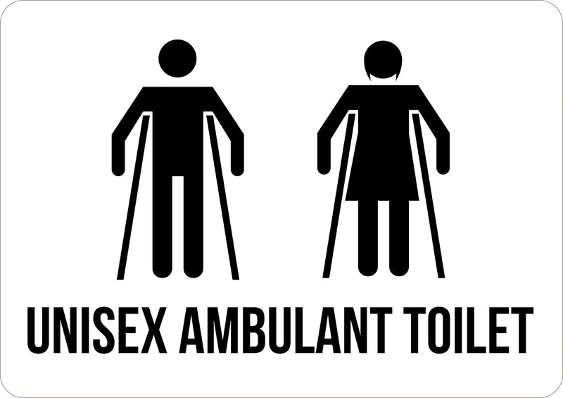 Unisex Ambulant Toilet Printed Sign