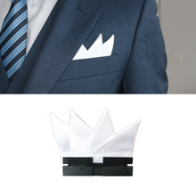 Load image into Gallery viewer, Perfect Square co white perfect peaks with perfect base in a blue 3 piece suit