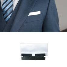 Load image into Gallery viewer, Perfect Square co white perfect presidential with perfect base in a blue 3 piece suit